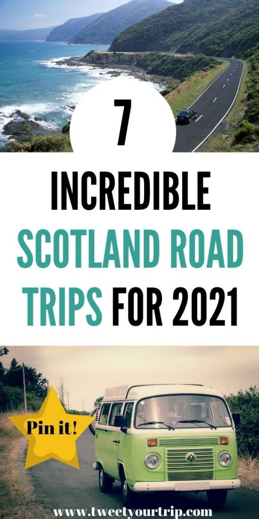 If you've got a camper van or want to throw your tent in the car & head on an adventure, we have the best Scotland road trip for you by Laura at Tweet Your Trip.