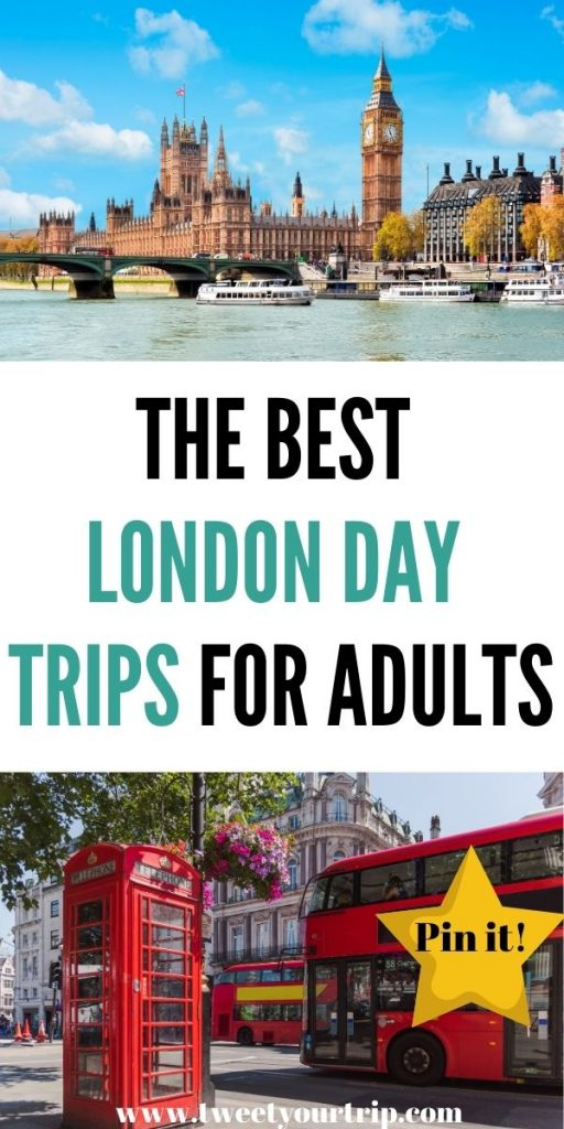 These are the best London day trips for adults. Come and explore one of the most historic cities in the world by Laura at Tweet Your Trip.