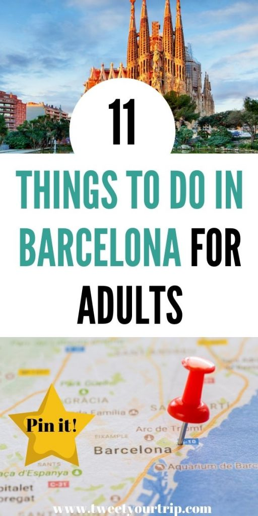 Here are 11 things to do in Barcelona for adults that you've never seen before. Enjoy this beautiful historic city that has so much to offer by Laura at Tweet Your Trip