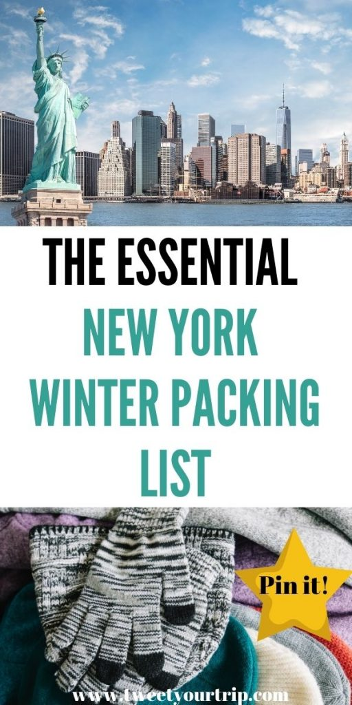 This is a New York Winter packing list for women who have never been to the Big Apple before. This lists everything you need to stay warm by Laura at Tweet Your Trip.