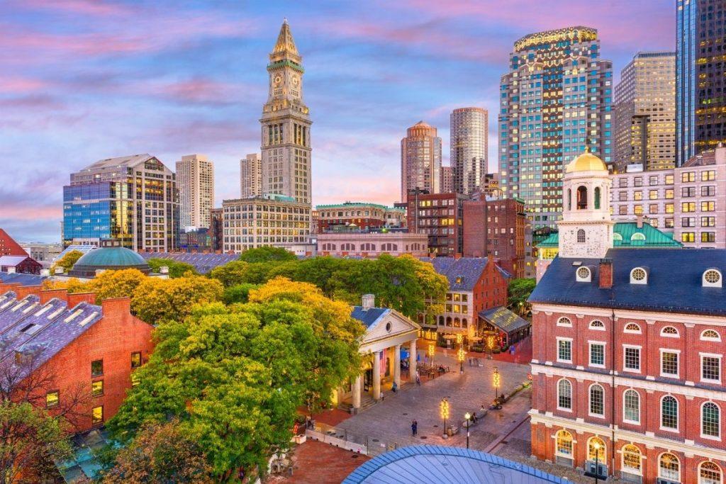 Boston, USA skyline