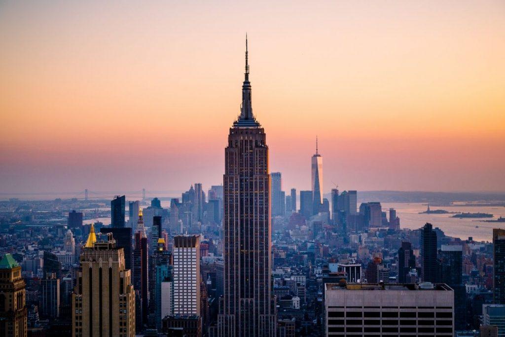 Empire State Building on New York skyline