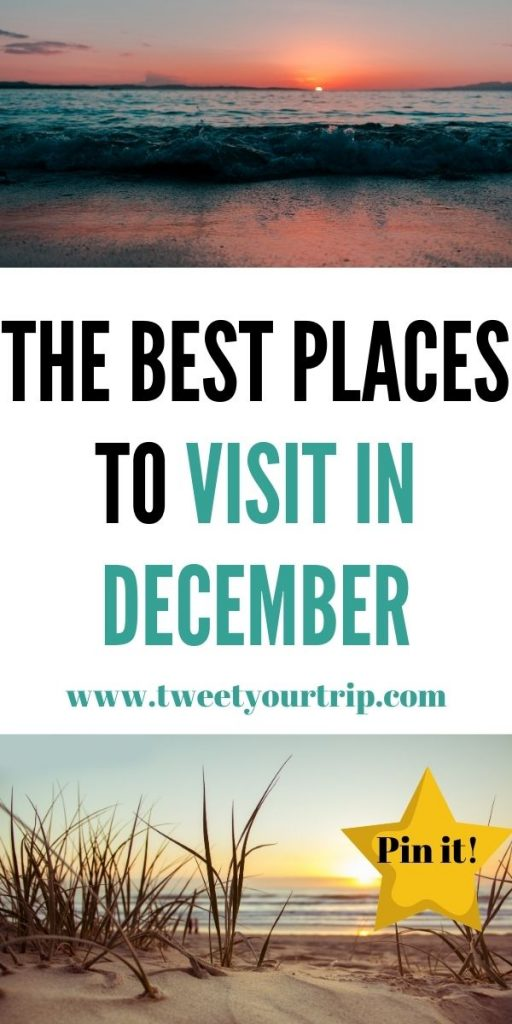 Looking to go away this December? These 7 December holiday destinations in Europe cover city breaks, beach holiday and backpacking ideas by Laura at TweetYourTrip.com