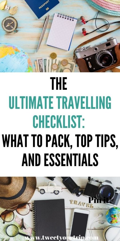 This is the ultimate travelling checklist! We've included everything you'll need to pack, buy and have a great holiday by Laura at Tweetyourtrip.com